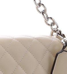 Bolsa Tiracolo Matelassê Corrente Pequena Off White