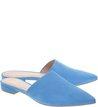 Mule Bico Fino Nobuck Blue Wave
