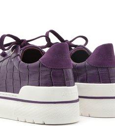 Tênis Amarração Roxo Croco Sola Alta Real Purple