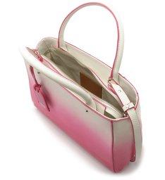 Bolsa Tote Couro Bella Média Bianco e Summer Pink