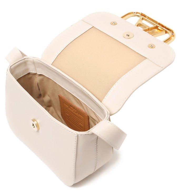 Bolsa Tiracolo Branca Couro Pequena Speciale