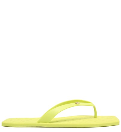 Chinelo Verde Lime Bico Quadrado Brizza Square