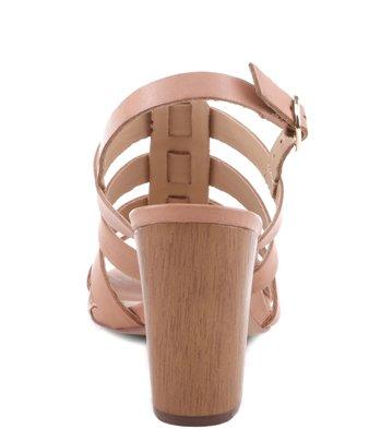 Sandália Salto Wood Blush