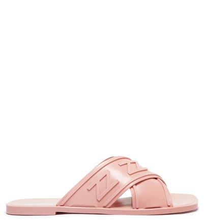 Rasteira Bico Quadrado Rosé Glam Brizza