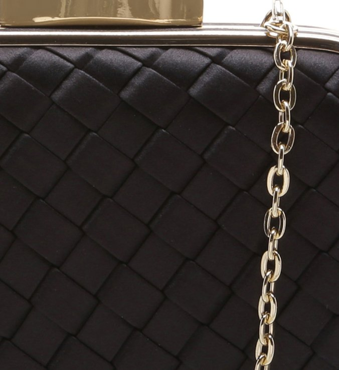 Bolsa Clutch Cetim Party Preto