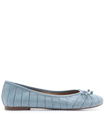 Sapatilha Azul Croco Tiny Bow New Cielo