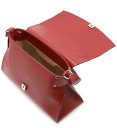 Bolsa Satchel Vermelha Croco Roberta Grande Soft Rubi