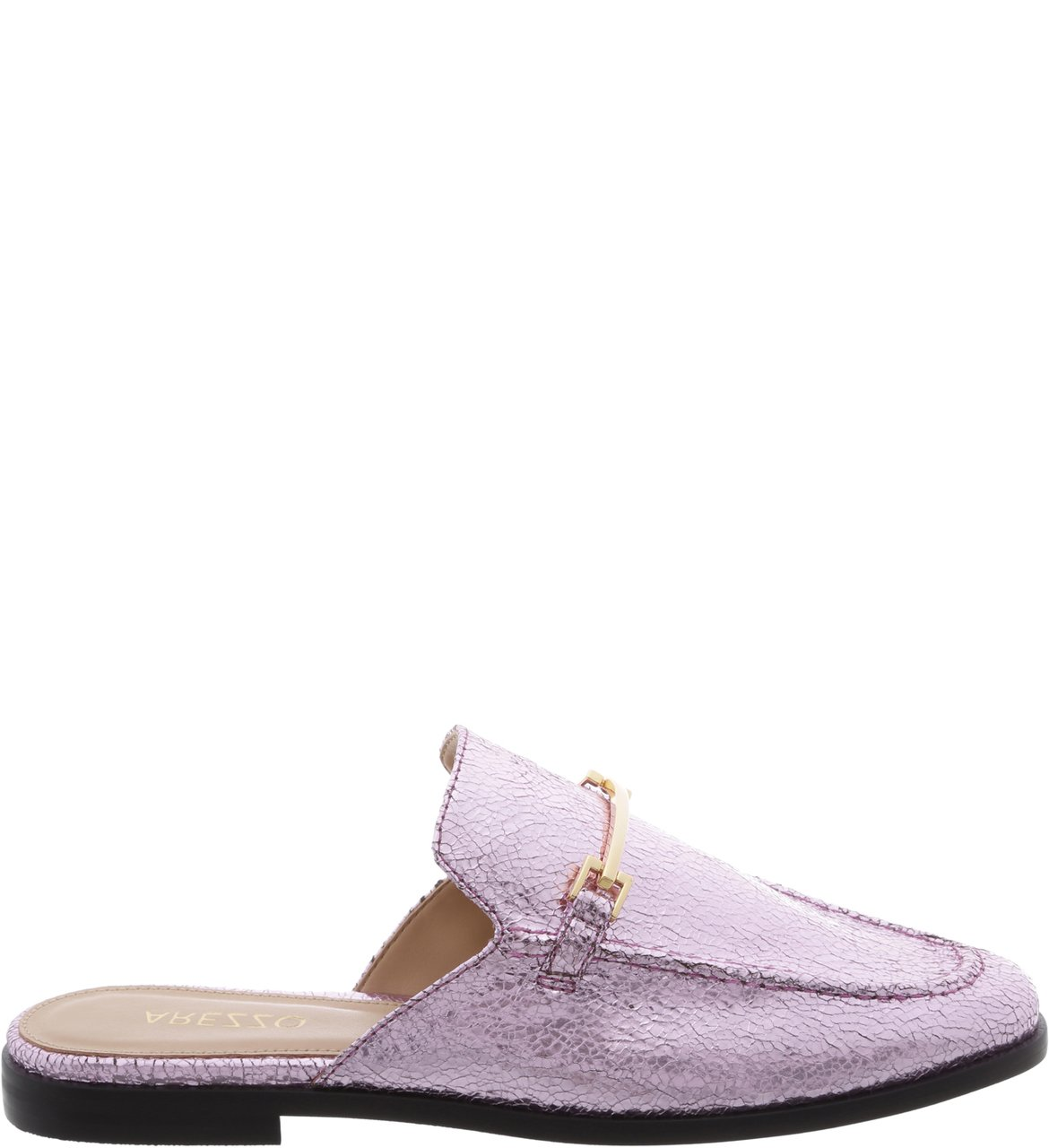 Mule Flat Sweet Pink Little Metal | Arezzo