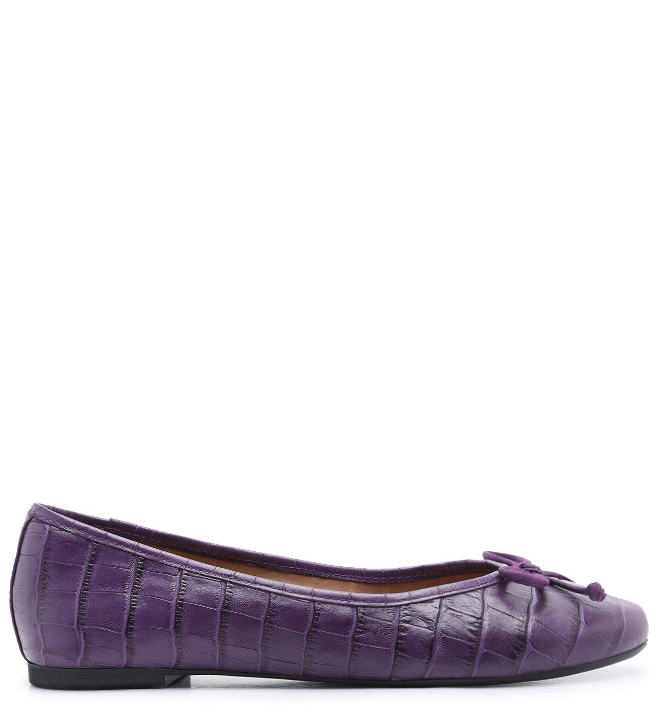 Sapatilha Roxa Croco Tiny Bow Real Purple | Arezzo
