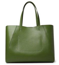 Bolsa Shopping Verde Couro Serena Grande