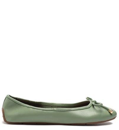 Sapatilha Verde Couro Cool Flats