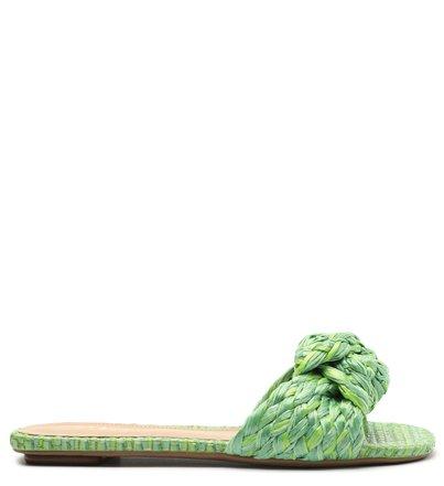 Rasteira Verde Tramada Slide