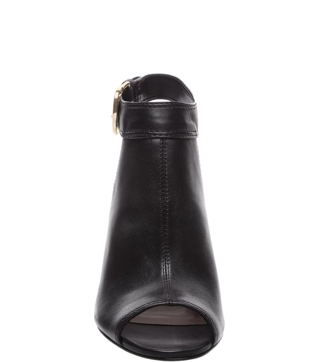 Sandal Boot West Side Couro Salto Alto Bloco Preta