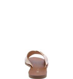 Chinelo Rasteiro Tiras Cruzadas Nude Crema