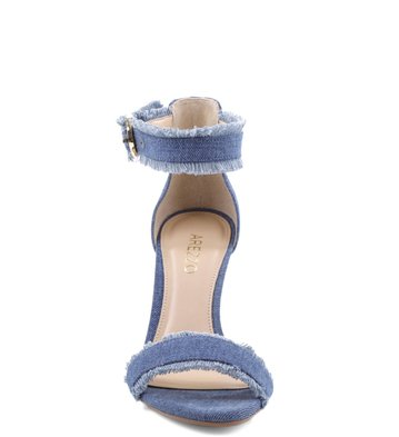 Sandália Desfiadinho Jeans