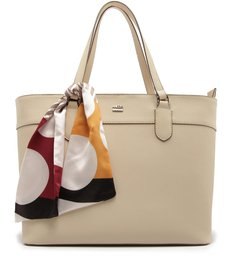 Bolsa Shopping Delfinna Grande Lenço Off White