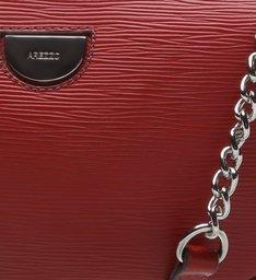 VIVARA | Bolsa Tiracolo Couro Textura Pequena New Rubi