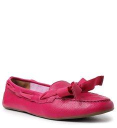 Mocassim Rosa Pink Pétala Couro Francesca