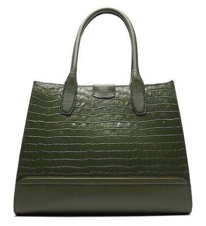 Bolsa Shopping Verde Couro Pippa Grande