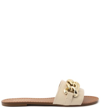 Rasteira Off-White Flat Corrente