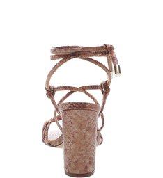 Sandália Tiras Amarração Nozinho Snake