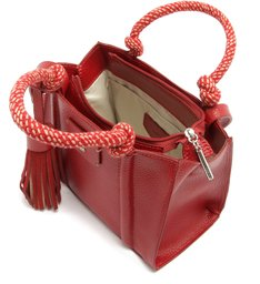 Bolsa Tote Carina Média Cherry Red