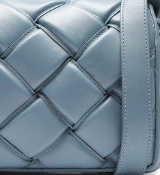 Bolsa Tiracolo Azul Couro Gaby Grande New Cielo