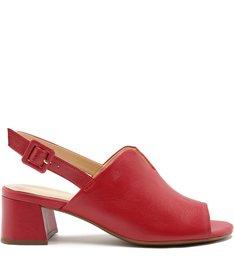 Sandal Boot Couro Salto Baixo Cherry Nude