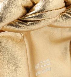 Bolsa Tote Média Dourada de Couro Milano