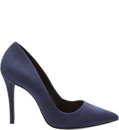 Scarpin Nobuck Navy Blue