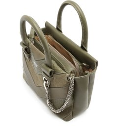 Bolsa Tote Multimaterial Malu Média City Army