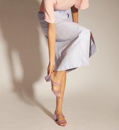 Sandália Rosa Alexa Natural Glam Bloco