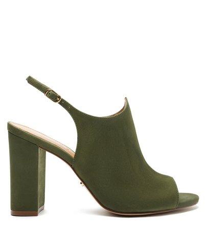 Sandal Boot Verde Nobuck Bloco Romantic