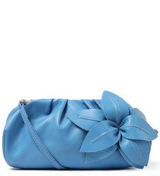 Bolsa Tiracolo Azul Couro Lily Média