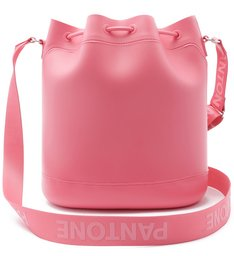 PANTONE   Bolsa Bucket Média Rosa Fosca