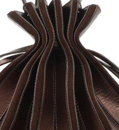 Bolsa Bucket Marrom Couro Pariolli Grande Cacau Brown Metal