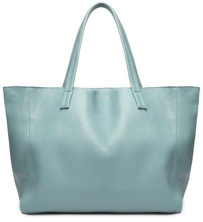 Bolsa Shopping de Couro Maxi Bag Azul Fio