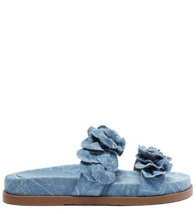 Rasteira Azul Jeans Antônia