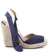 Espadrillle Lace Up Lona Navy