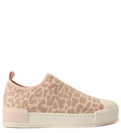 Slip On Rosé Knit Animal Print