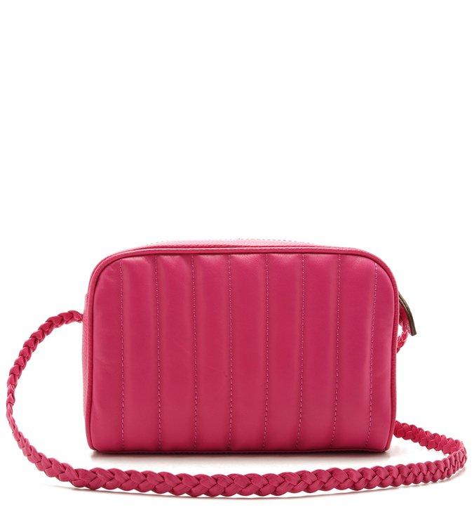 Bolsa Tiracolo Couro Talita Pequena Summer Pink