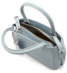 Bolsa Tote Couro Bella Pequena Soft Blue e Bianco