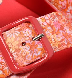 Slide Vermelho Floral Injetado Fresh