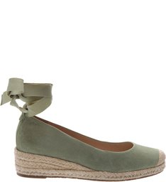 Espadrille Couro Mayale Soft Mint