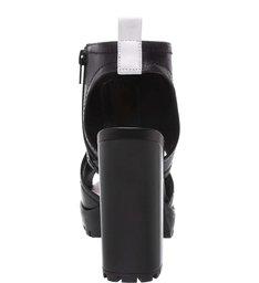Sandal Boot Plataforma Alta Tratorada Preta