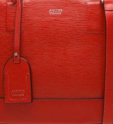Bolsa Couro Tote  Média  Libertà Royal Red
