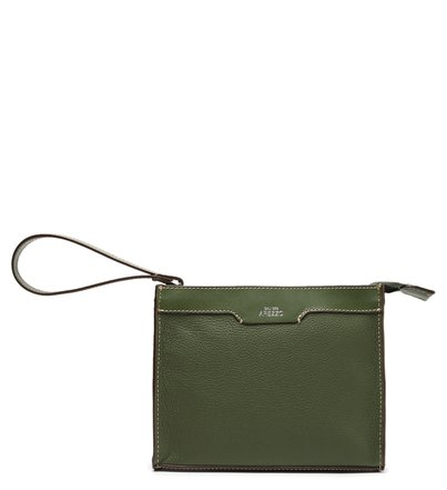 Pouch Verde Couro Bee.ZZ