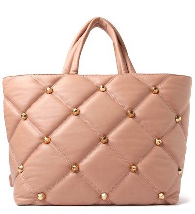 Bolsa Shopping Rosa Couro Bee.ZZ Grande