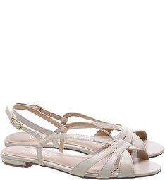 Sandália Flat Chic Off White