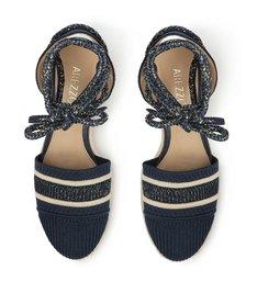 Espadrille Azul Knit Salto Anabela